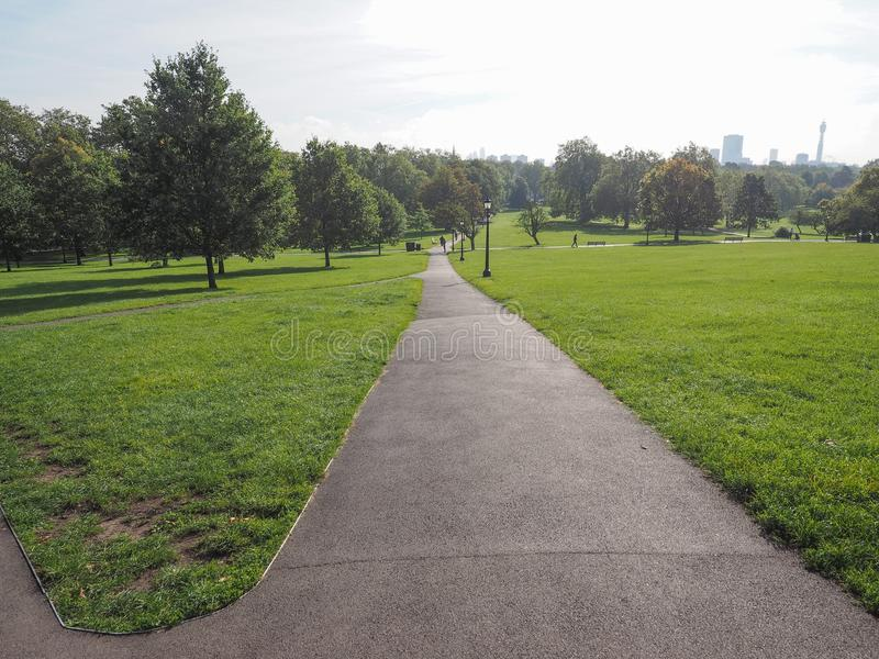 Primrose Hill in London. The Primrose Hill park in London, UK royalty free stock photos