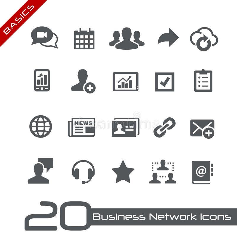 Princípios de //dos ícones da rede do negócio ilustração royalty free