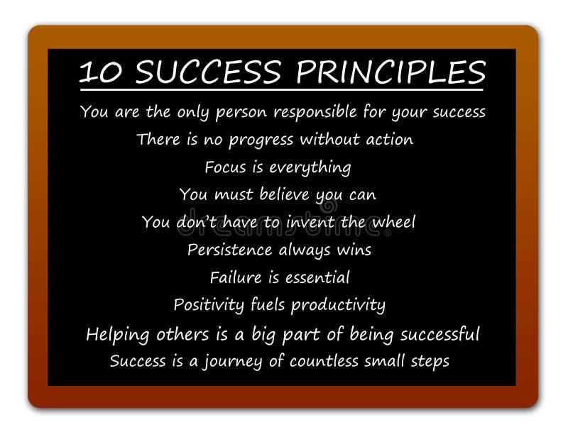 Princípios do sucesso ilustração royalty free