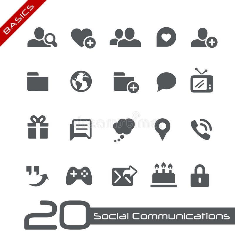 Princípios sociais de //dos ícones das comunicações ilustração do vetor