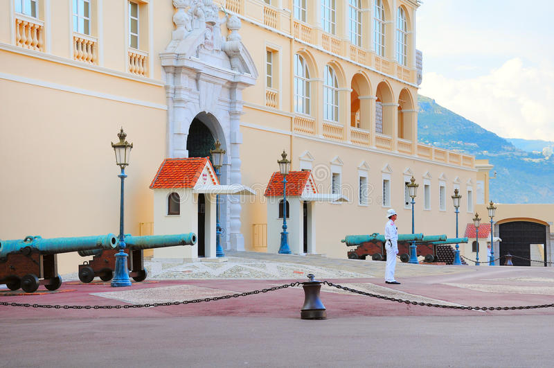 Prince' 摩纳哥的s宫殿是一个主要 免版税图库摄影