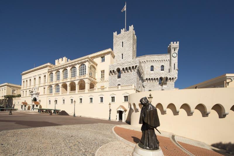 Prince& x27; 摩纳哥的s宫殿 免版税库存图片