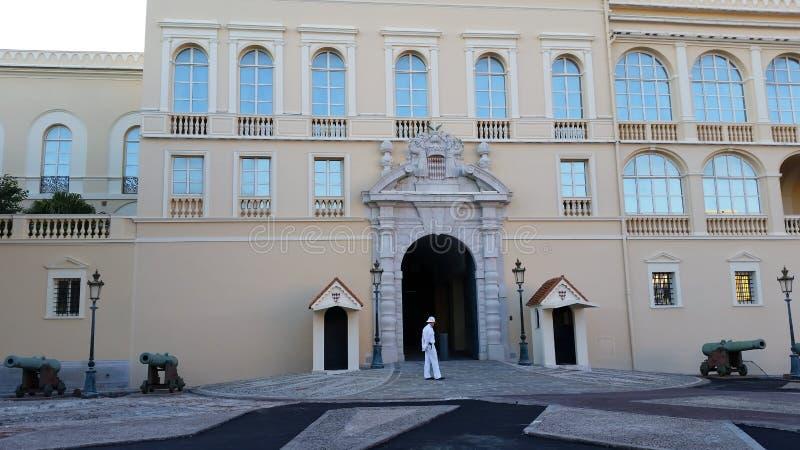 Prince' 摩纳哥的s宫殿 免版税库存图片