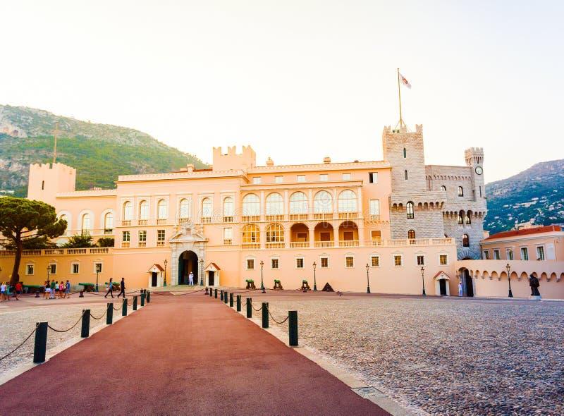 Prince& x27美丽的大厦; s宫殿在摩纳哥 图库摄影