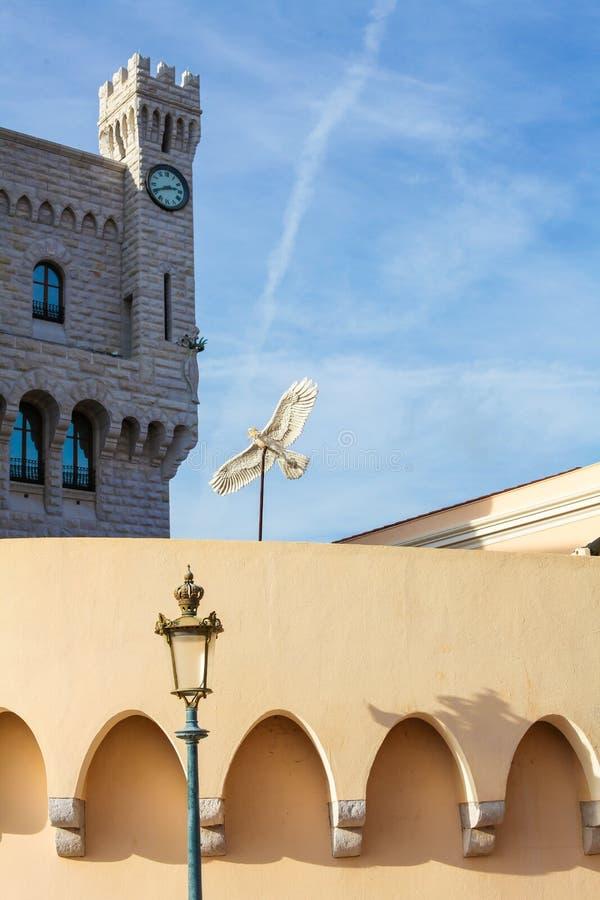 Prince& x27;摩纳哥的s宫殿在摩纳哥 库存图片