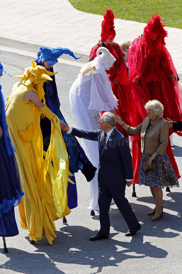 Free Prince Charles Camilla Stilt People Saint John Stock Photos - 24898183