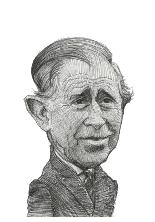 Free Prince Charles Caricature Sketch Royalty Free Stock Image - 28408756