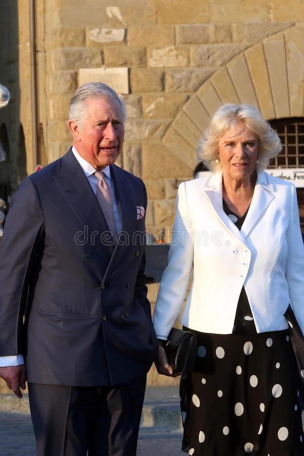 Prince Charles de l'Angleterre et son épouse Camilla Parker Bowles, duchesse des Cornouailles photo libre de droits