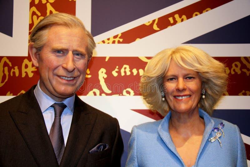 Prince Charles et Camilla Parker Bowles image libre de droits