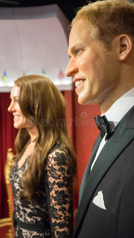 Prince Charles and Kate Middleton royalty free stock images