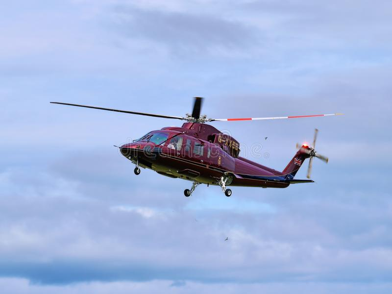 Prince Charles Royal Helicopter Flight image libre de droits