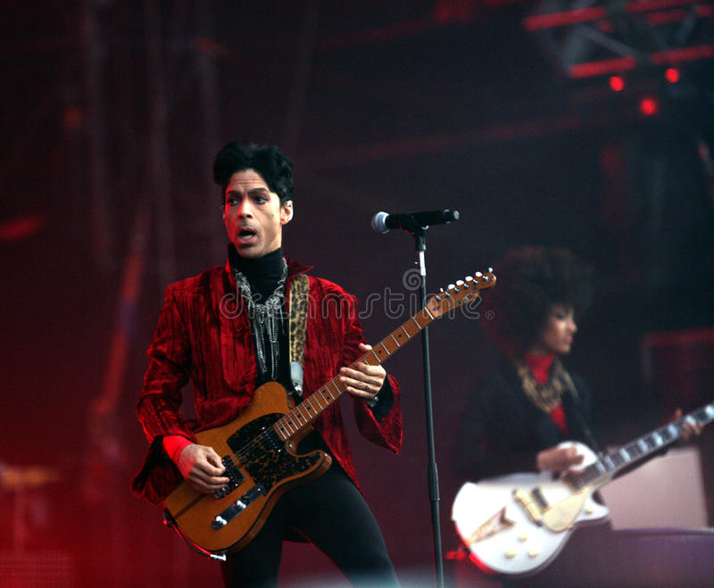 PRINCE IN CONCERT. The rock/ pop/ funk musician Prince in concert at the annual Sziget Festival in Budapest, Hungary, on Tuesday, August 9, 2011. Photographer stock photos
