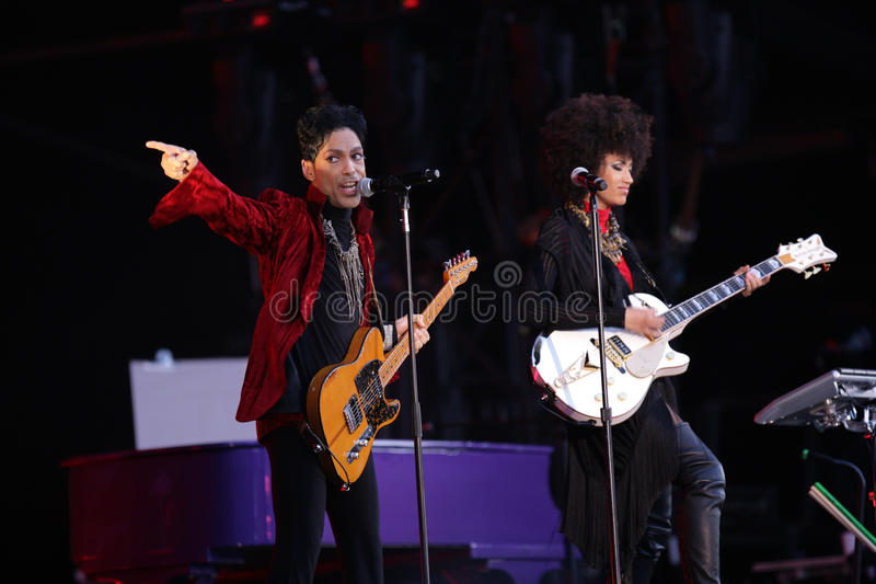 PRINCE IN CONCERT royalty free stock photos