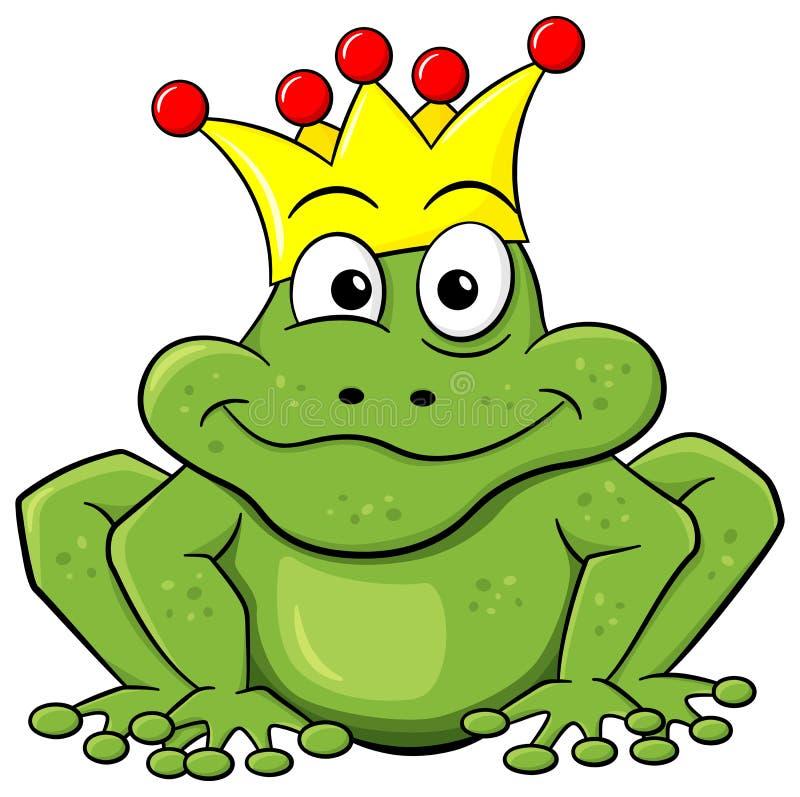 Prince de grenouille attendant pour être embrassé illustration libre de droits