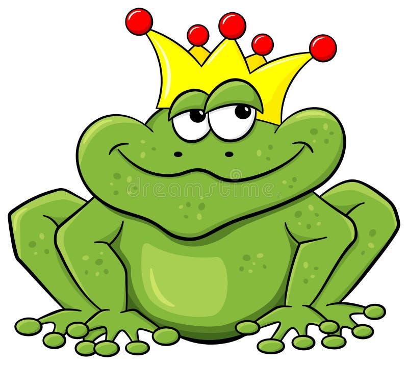 Prince de grenouille attendant pour être embrassé illustration de vecteur