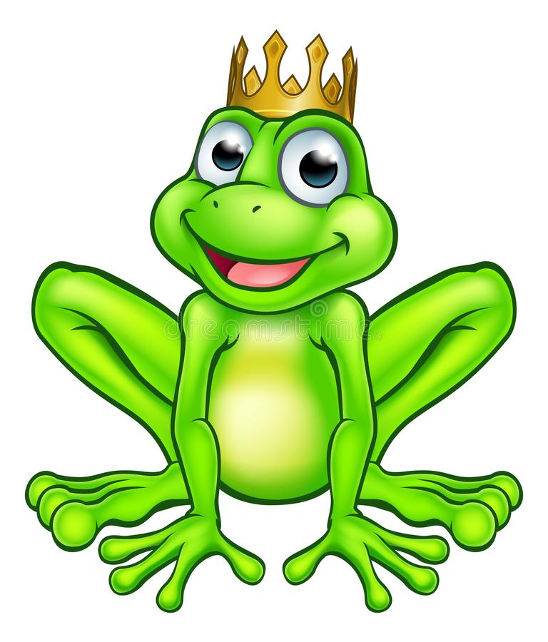 Prince de grenouille de bande dessinée illustration libre de droits