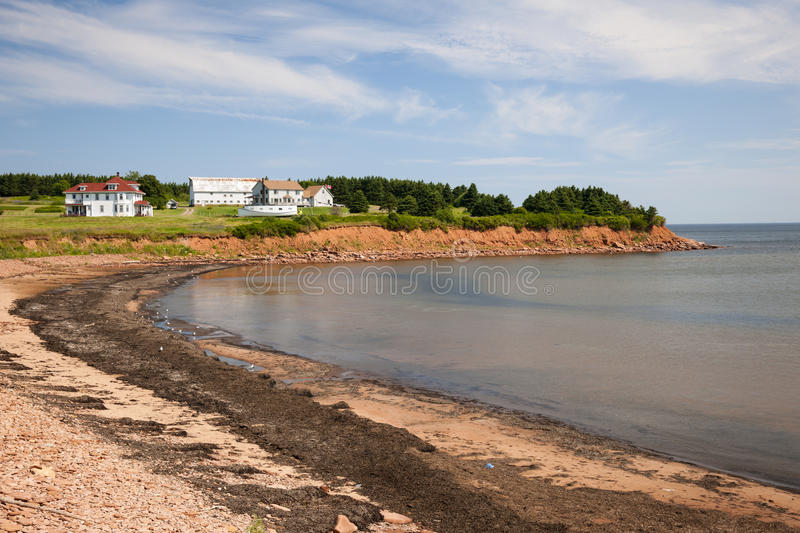 Prince Edward Island coastline. Prince Edward Island coast near village of North Rustico in Green Gables Shore, PEI, Canada stock image