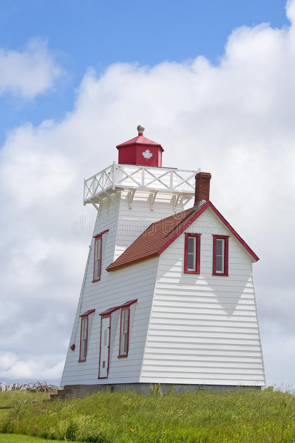 Prince Edward Island Lighthouse. A lighthouse located in North Rustico, Prince Edward Island, Canada royalty free stock photography