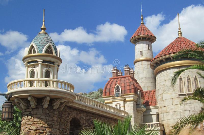 Prince Eric`s Castle in Orlando, Florida royalty free stock image