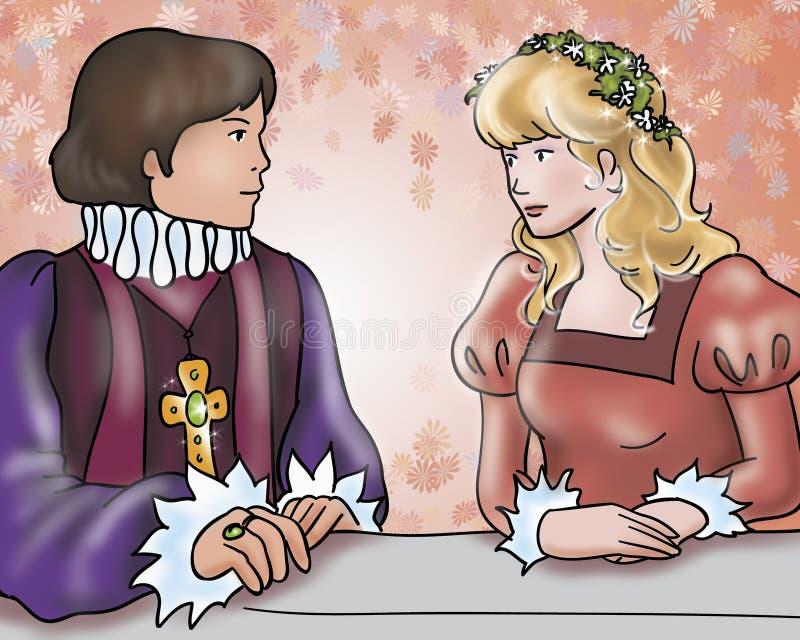 Prince et princesse - contes de fées illustration de vecteur