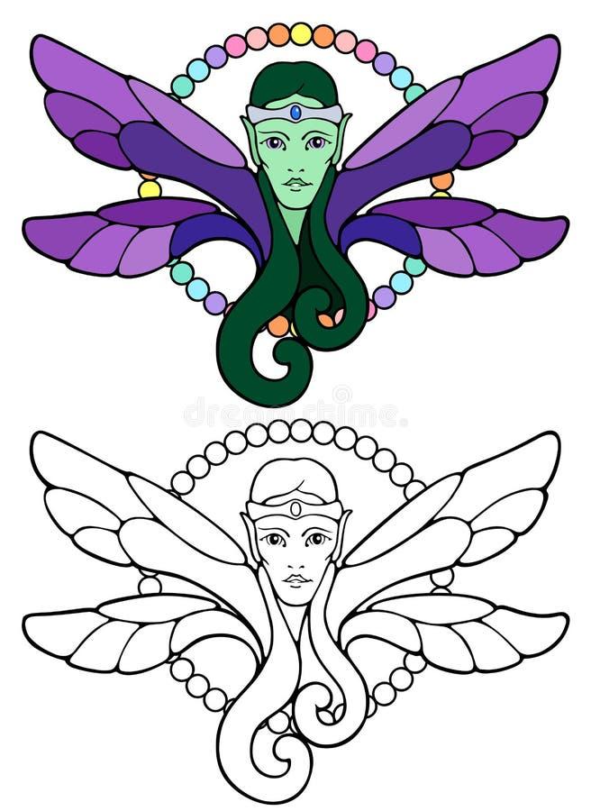 Prince féerique d'Elven avec un filet argenté illustration libre de droits