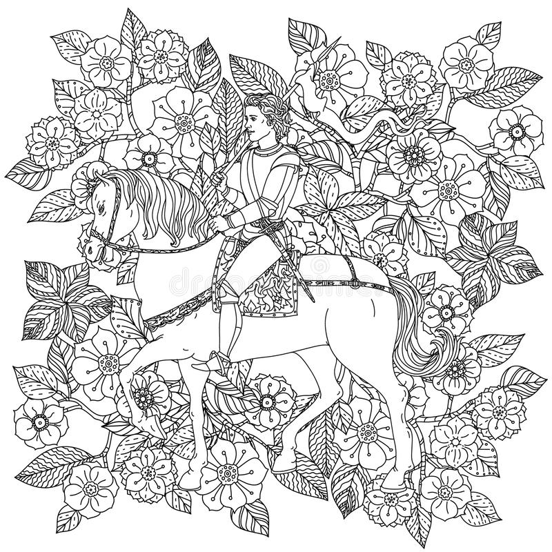 The prince from a fairy tale vector illustration