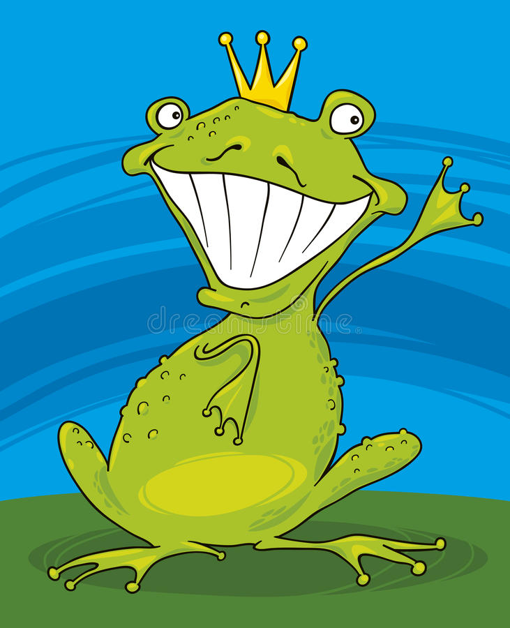 Download Prince frog stock vector. Illustration of fairytale, story - 18017570