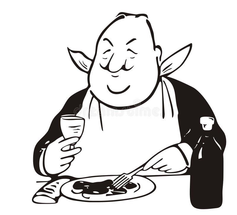 Prince of gastronomy stock illustration