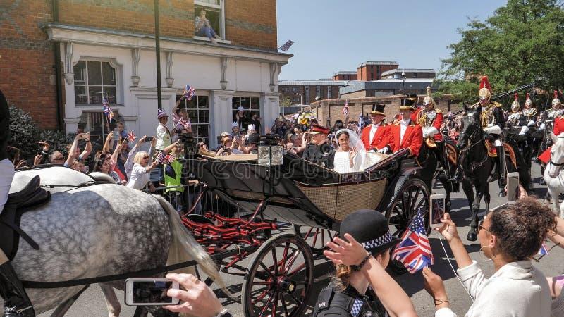 Prince Harry, duc du Sussex et Meghan, duchesse de congé du Sussex photos libres de droits