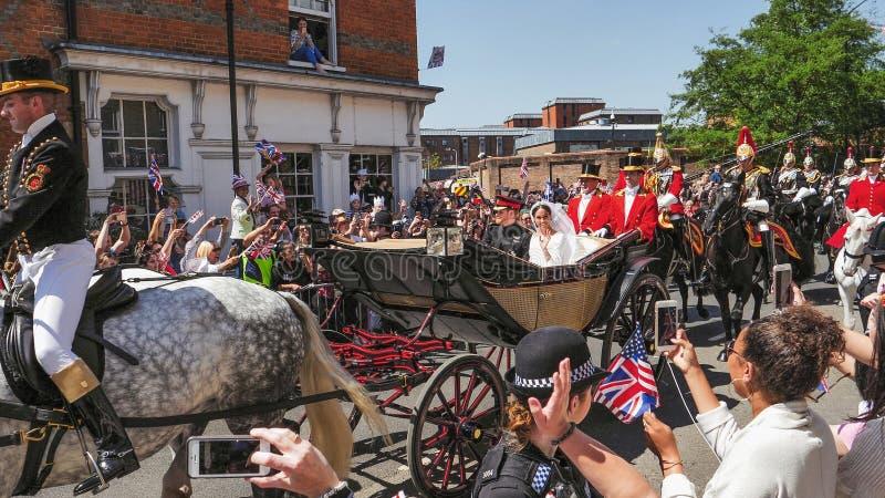 Prince Harry, duc du Sussex et Meghan, duchesse de congé du Sussex image stock