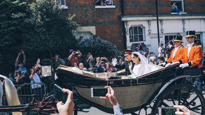 Prince Harry, duc du Sussex et Meghan, duchesse de congé du Sussex photo libre de droits