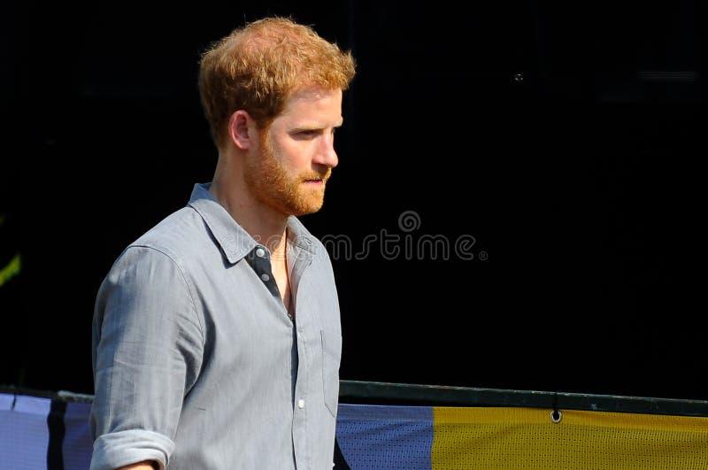 Prince Harry pendant les jeux d'Invictus image libre de droits