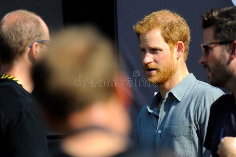 Prince Harry pendant les jeux d'Invictus image stock