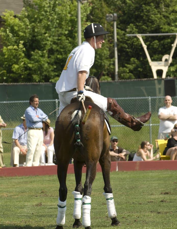 Prince Harry Playing Polo image libre de droits