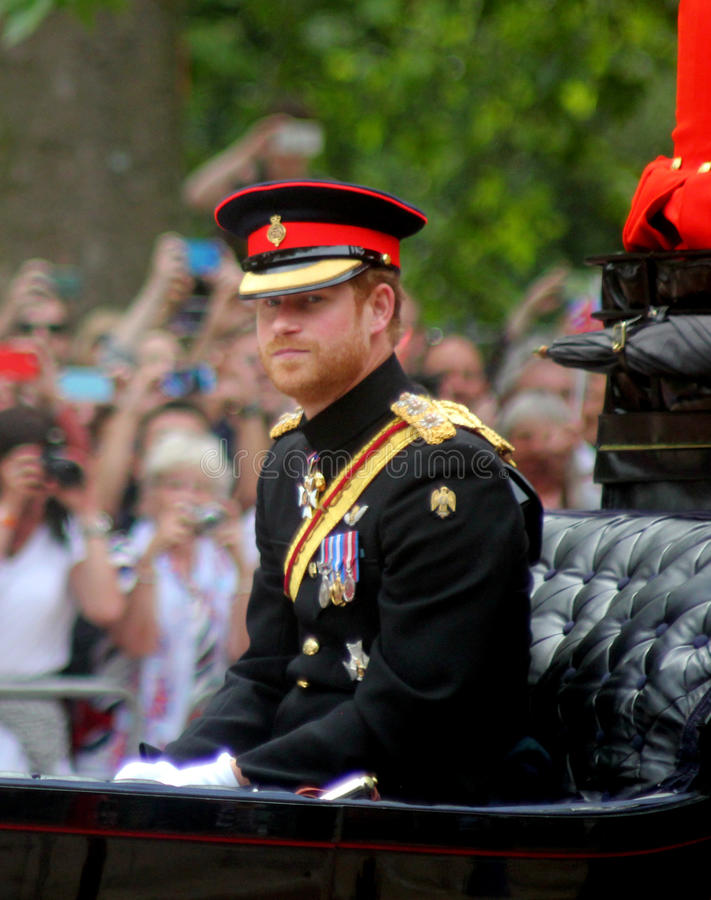 Prince Harry. During Trooping The Colour London England stock photography
