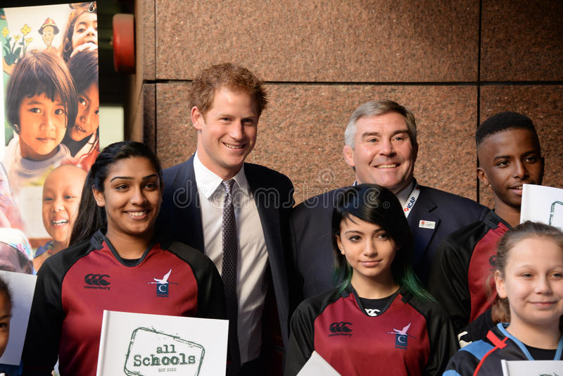 Prince Harry will attend the annual ICAP Charity Day. London,UK 3th December 2014 : Prince Harry attends the annual ICAP Charity Day at the ICAP headquarters in stock photo