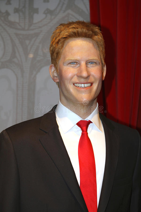 Prince Henry at Madame Tussaud's stock photography