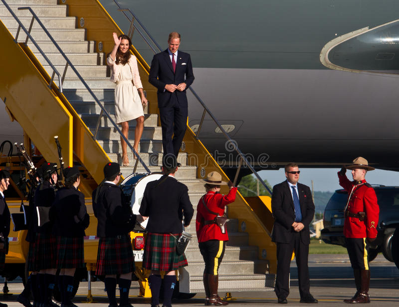 The Prince (William Arthur Philip Louis) & Princess (Kate Middleton) royalty free stock photos