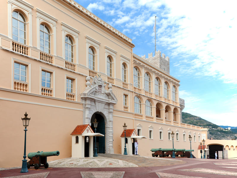 Prince's Palace of Monaco. Palace of the Prince of Monaco royalty free stock photo