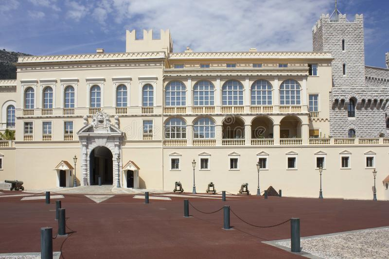 Prince`s Palace of Monaco, architecture. MONTE CARLO, MONACO - APRIL 25 2017: Prince`s Palace of Monaco, architecture royalty free stock photos