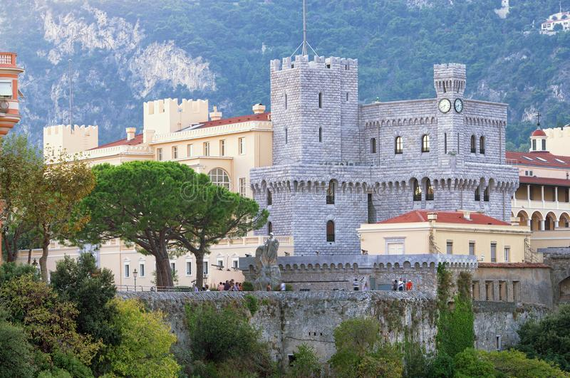 The Prince`s Palace in Monaco. Monte Carlo royalty free stock photos