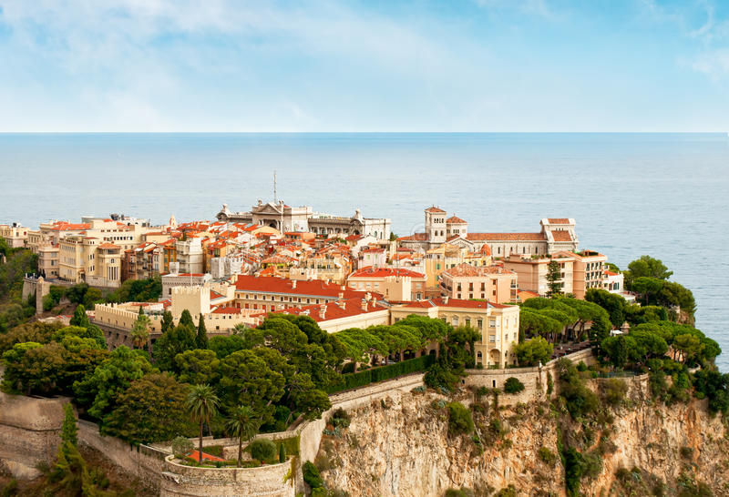 Prince's Palace in Monaco. In south of France royalty free stock photo