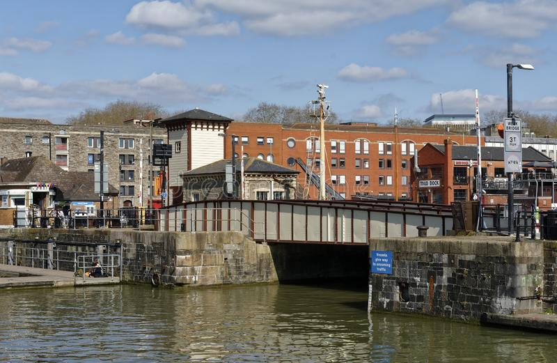 Prince Street Swing Bridge, Bristol royalty free stock image