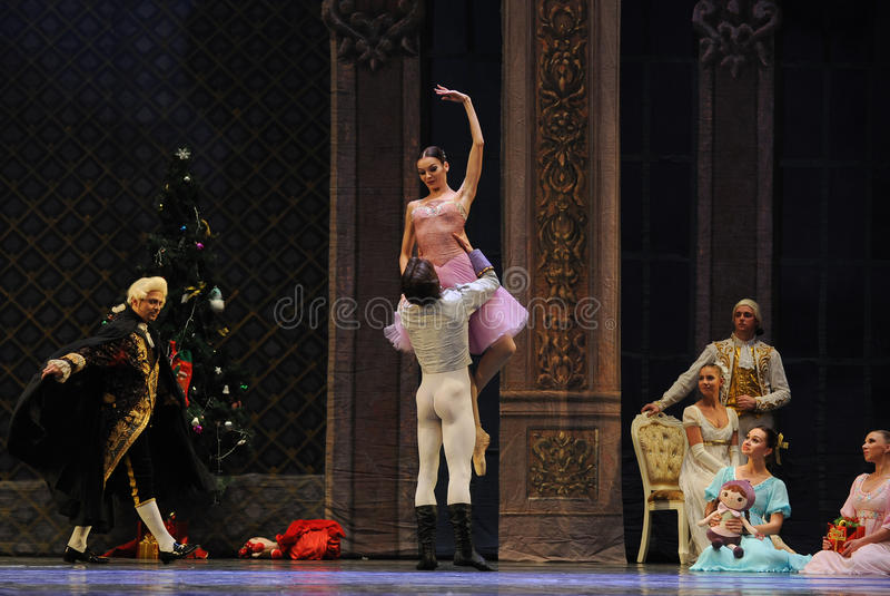 The prince took Clara up high-The Ballet Nutcracker royalty free stock photos