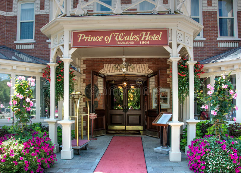 prince of wales hotel in niagara on the lake editorial. Black Bedroom Furniture Sets. Home Design Ideas