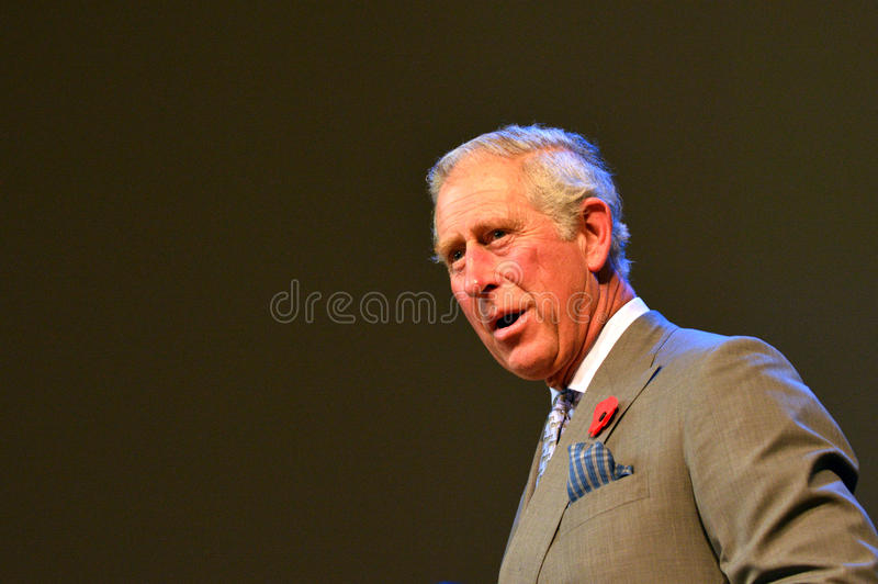 Prince of Wales visit to Auckland New Zealand. AUCKLAND - NOV 08 2015:Prince of Wales (C) visit in Auckland New Zealand.He is the oldest person to be next-in stock photography