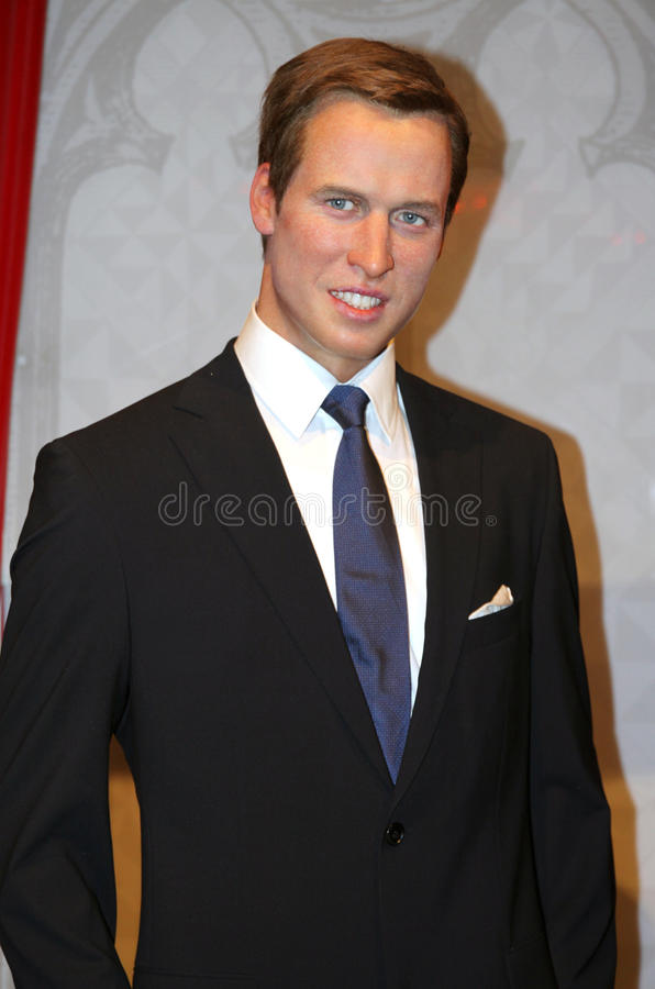Prince William à Madame Tussaud's photo libre de droits
