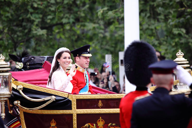 Prince William and Catherine wedding. The Royal wedding of prince William and Catherine in London 2011 stock image
