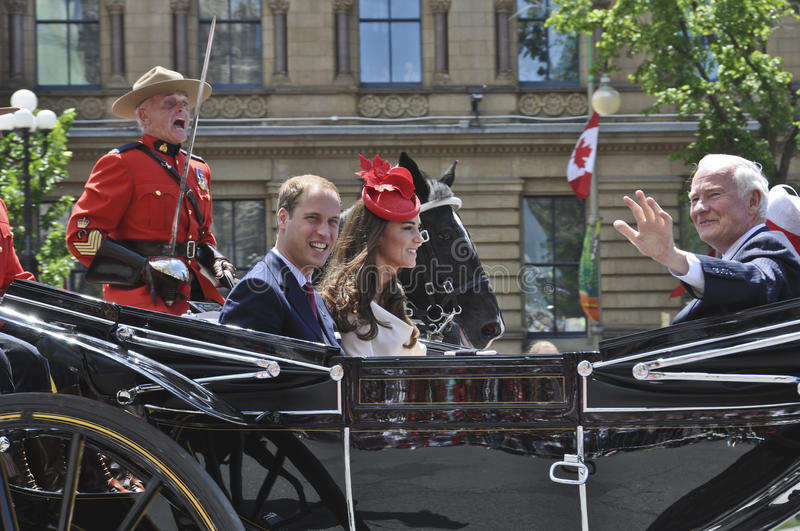 Prince William and Kate, Ottawa, Canada Day royalty free stock photo