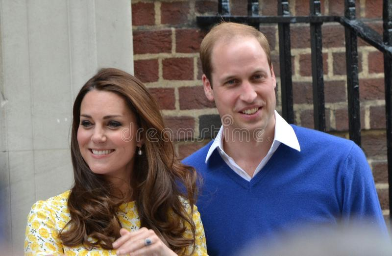 Prince William Kate Middleton. British royal family couple Prince William and Kate Middleton royalty free stock photos